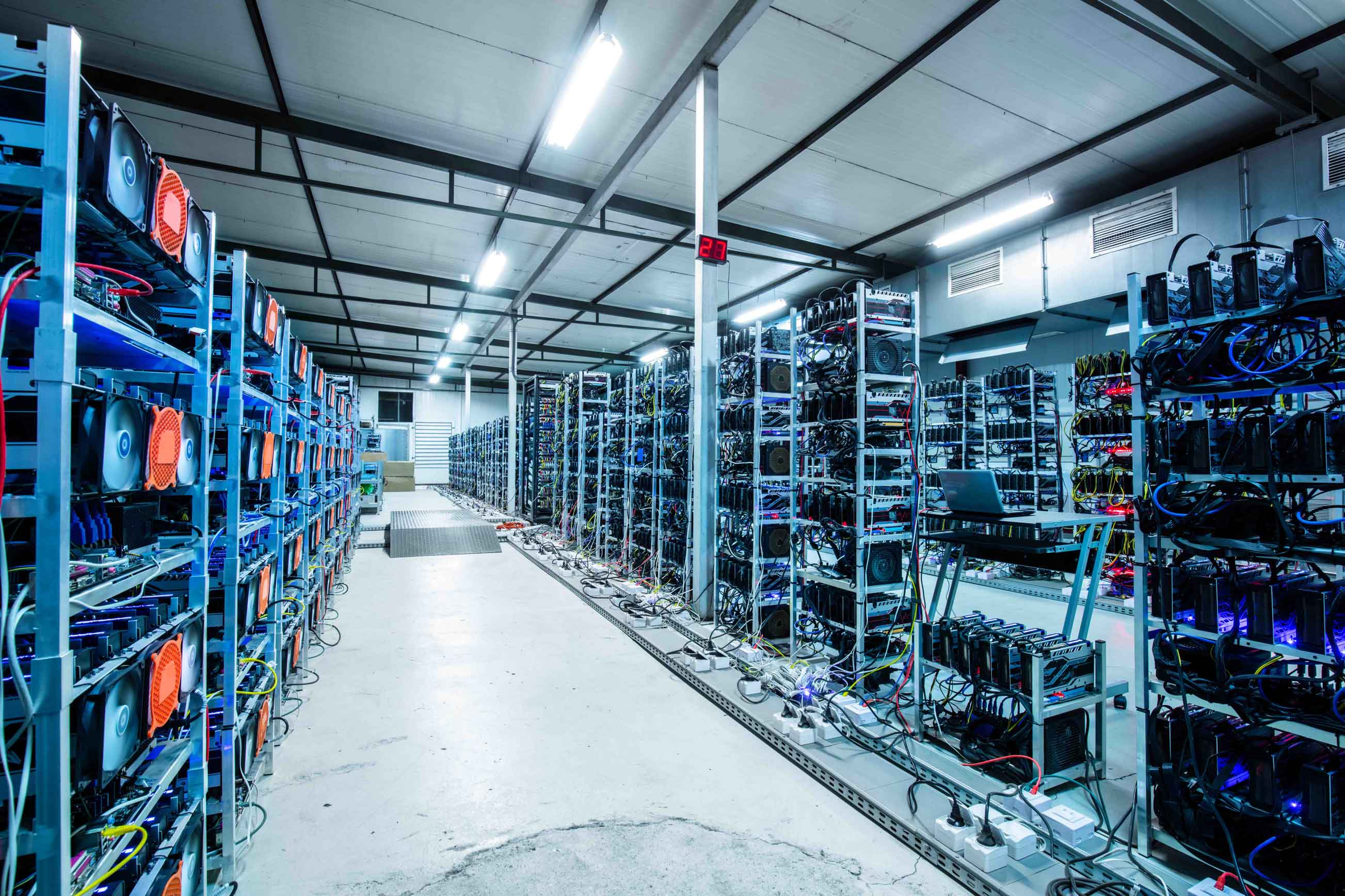 Granja de minería bitcoin