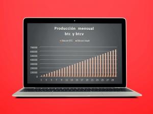 Producción de btc y btcv mensuales